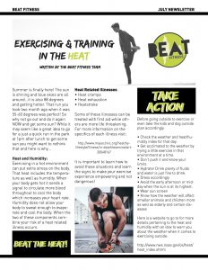 beat fitness july newsletter