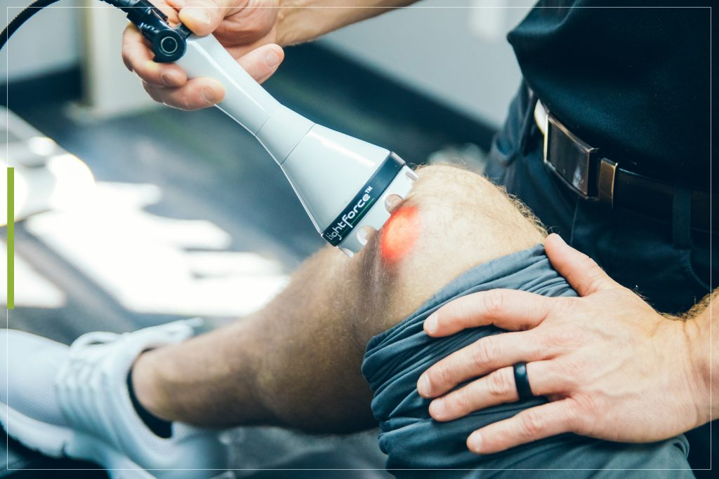 Deep Tissue Laser Therapy helps relieve pain and helps accelerate the healing process through a recovery process at Beat Fitness.